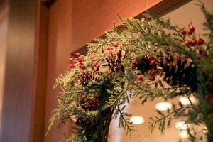 クリスマスリースに使う木