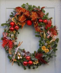 【胡蝶蘭専門店】グランドグルー|本格的クリスマス用のリース