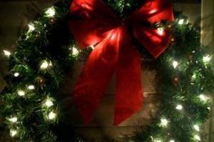 クリスマスリース LED