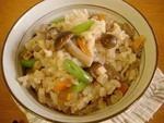 きのこご飯のレシピ、作り方